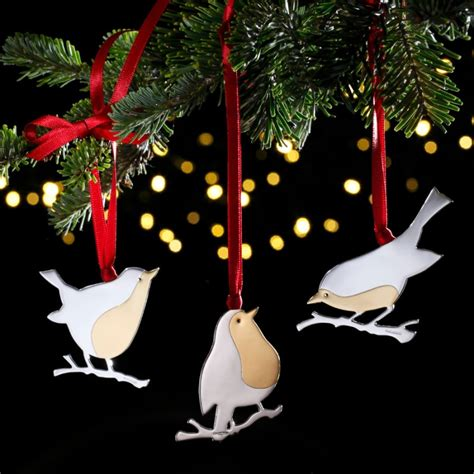 bobbyn robin sterling silver christmas decoration