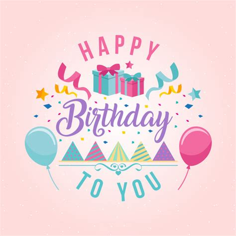 happy birthday notes design vector free vector graphic surprise theme happy birthday card illustration vector