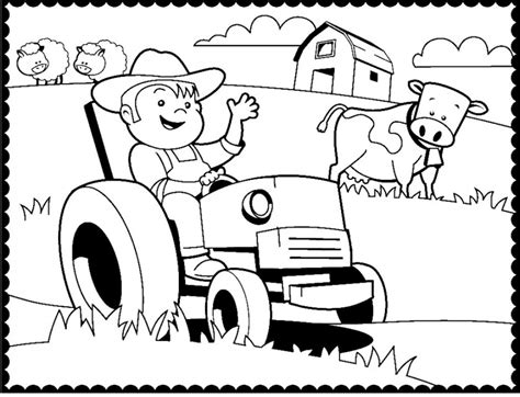 John Deere Farm Tractor Coloring Page Coloring Pages Farm Tractor Coloring Pages