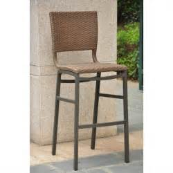 Outdoor Wicker Bar Stool International Caravan Celona Wicker Honey Set Of 2 Outdoor Bar Stool Ebay