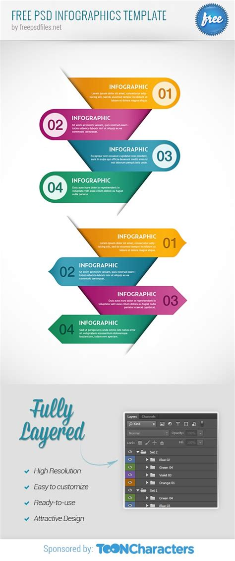 Free Psd Infographics Template Free Psd Files Free Infographic Templates