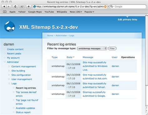 drupal theme exle sites submitting your site map to search engines drupal org