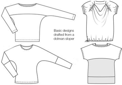 layout definition sewing draft your own simple dolman sleeve top