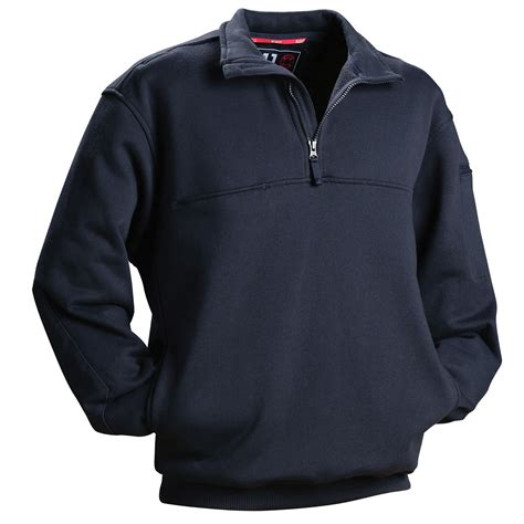 5 11 Tactical Black Blue 5 11 tactical firefighter quarter zip shirt