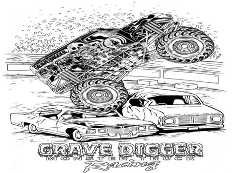 grave digger coloring page grave digger monster truck