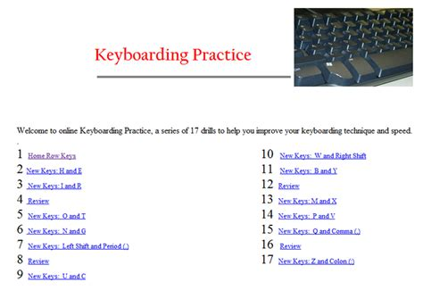 keyboard tutorial and typing test west hills christian school typing practice