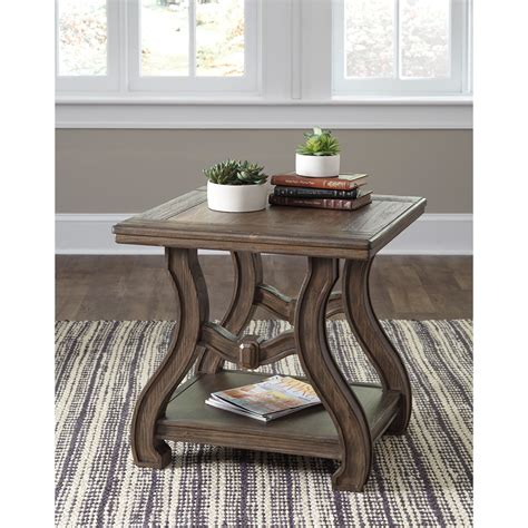 cottage style end tables signature design by tanobay t046 2 square end table