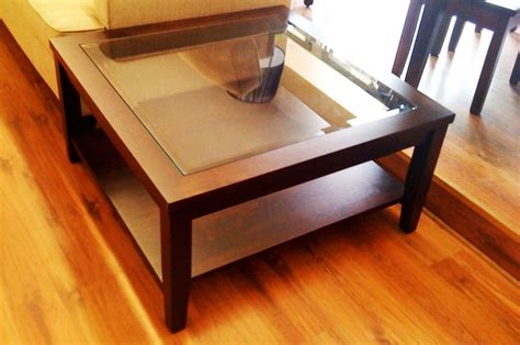 wood and glass coffee tables square coffee table with storage top dining