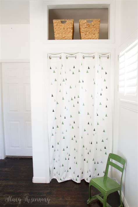 curtain instead of door custom painted curtains stacy risenmay