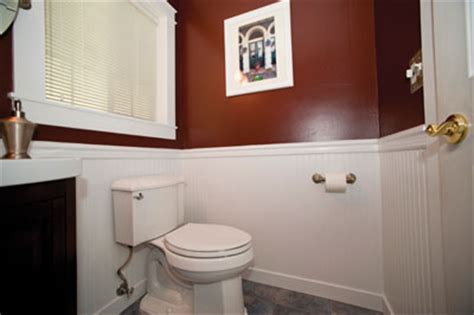 how high should wainscoting be in a bathroom installing wainscot in a powder bath extreme how to