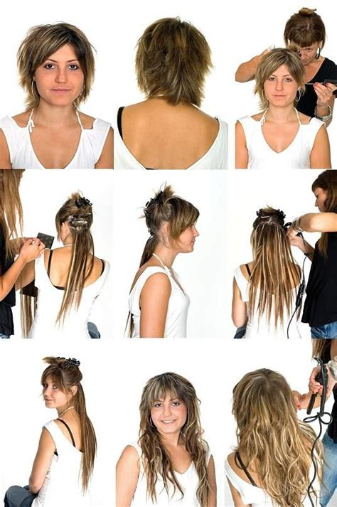 puttin in extentions to shorot hair with glue videos 22 best images about how to deal with short hair on