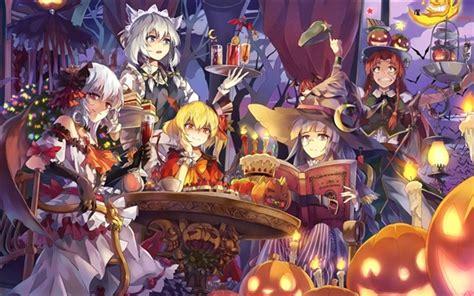 anime girl halloween wallpaper wallpaper beautiful anime girls halloween hd picture image