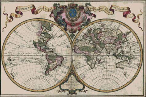 vintage map pattern vintage map cross stitch pattern no 635