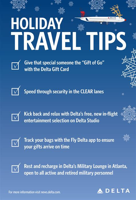 9 Tips For Traveling During The Holidays by 5 Travel Tips To Keep In Mind This Season Delta