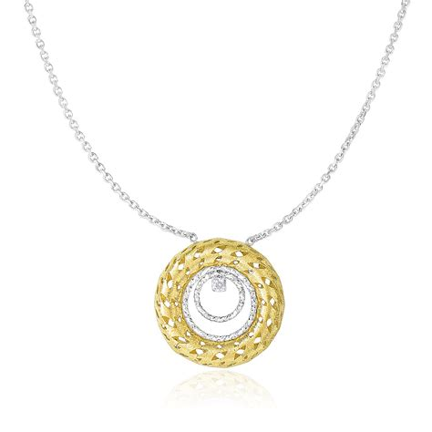 multi circle necklace textured multi circle necklace with in 14k two