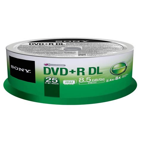 Dvdr Sony sony dvd r dual layer recordable blank discs 25 pk bj