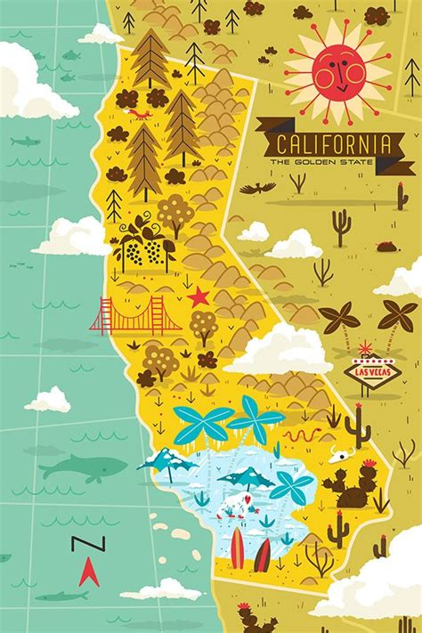 california map illustration 299 best images about illustration travel on
