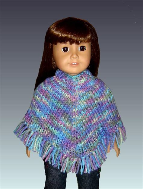 knitting patterns for 18 inch dolls free easy poncho knitting pattern fits american and 18