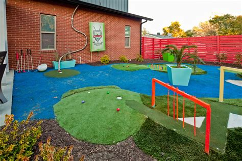 backyard mini golf course large and beautiful photos