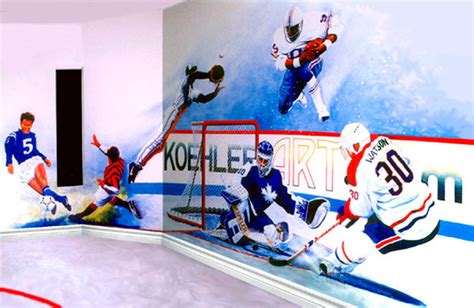 sports wall murals custom sports wall mural commission