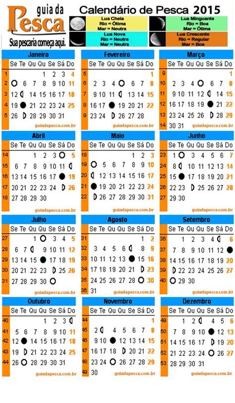 calendario de pesca 2015 falando de pescarias