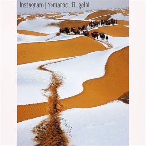 Snow In Sahara De La Neige 224 Merzouga C 233 Tait Cet Hiver Lacasablancaise