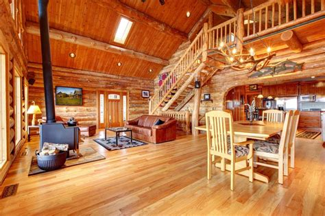 Log Home Interiors Log Homes And Log Cabins Articles Information House Plans