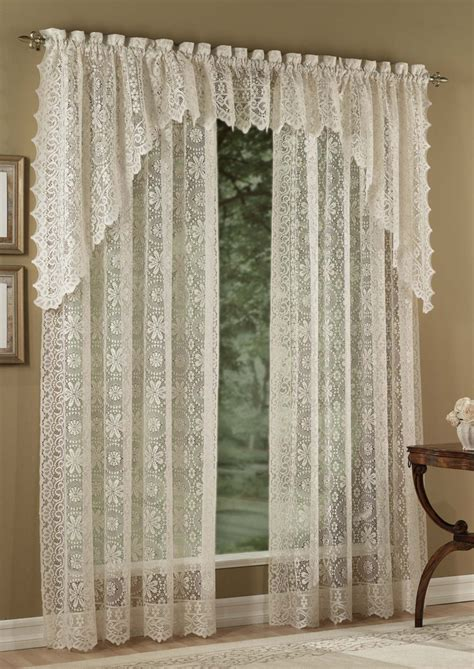 lace curtain hopewell jacquard lace curtains cream lorraine view
