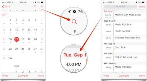 Iphone Calendar List View How To Access List View In The Calendars App On Your