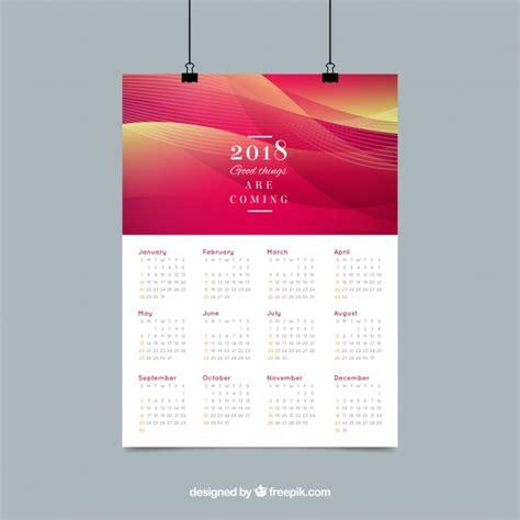 elegant abstract calendar 2018 vector free download