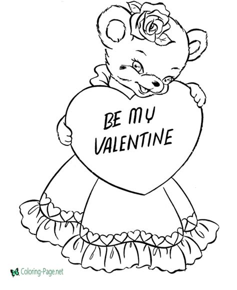 valentine 180 s day coloring pages