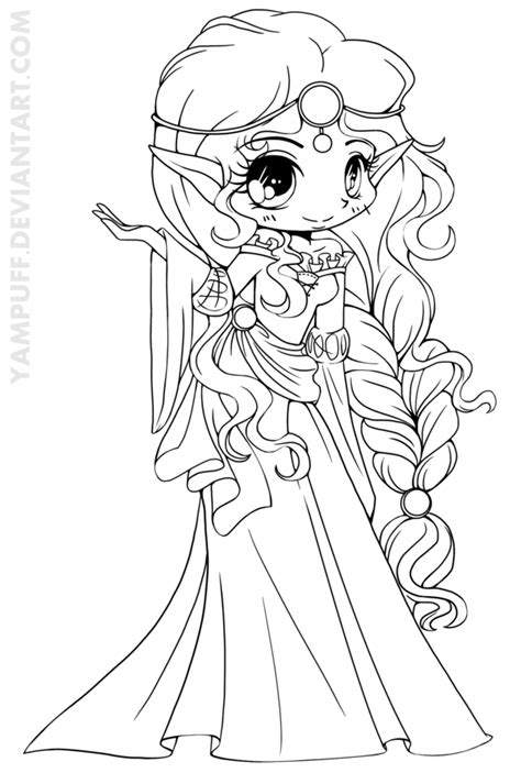 Scottish Elf Princess Lineart By Yampuff On Deviantart Warrior Princess Coloring Pages Free Coloring Pages