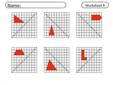 Reflection Geometry Worksheet by Reflections Worksheet Lesupercoin Printables Worksheets