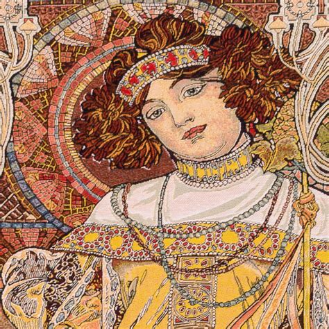 Tapisserie Mucha by Automne Alfons Mucha Tapisseries Murales Mille