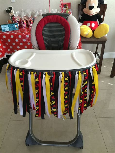 Mickey mouse 1st birthday party mickey mouse 1st birthday party pinterest high chair