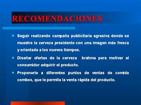 empresa de investigaci 243 n de mercados y ejemplos de recomendaciones en un trabajo de investigacion