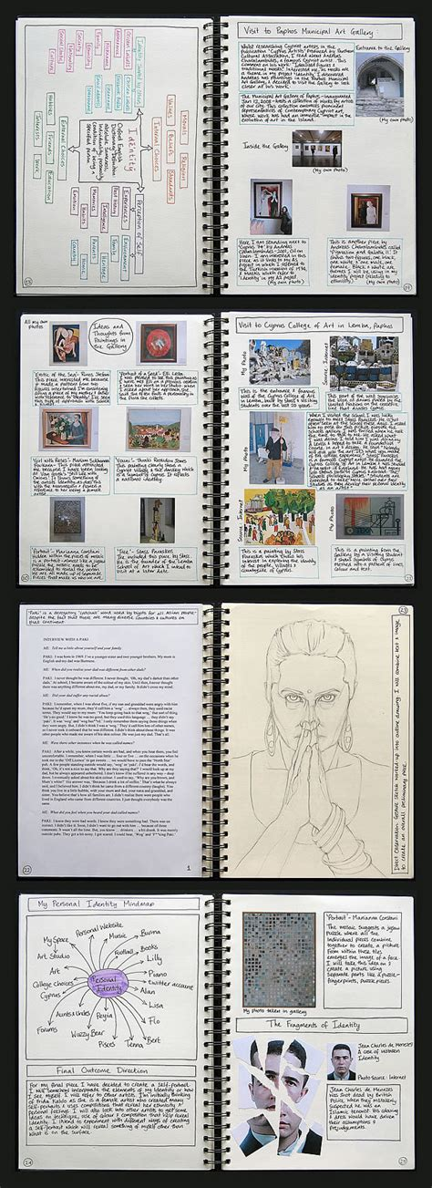 sketchbook guide top in the world stunning self portraits by an a level