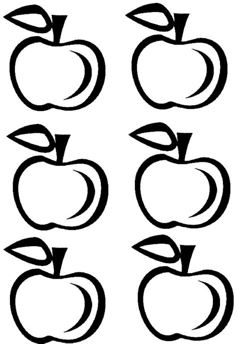 free apple templates free coloring pages of apple template