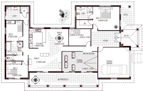 Four Family House Plans by Media Room Large Bedroom Family Home Design 4 Bedroom
