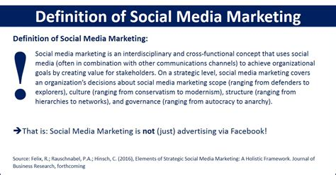 definition of marketing strategy definition of social media marketing strategy research