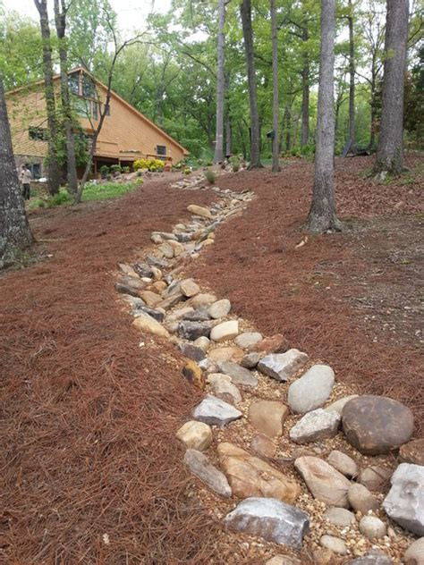 Landscape Design Front Yard Curb Appeal - lake house rustic landscape atlanta by art of stone gardening