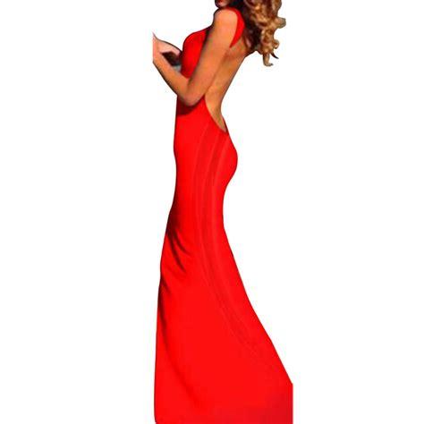 Backless Dress Large Size Wh0083 minimalist backless open cutout back slip jersey plus size maxi dress sml 2017
