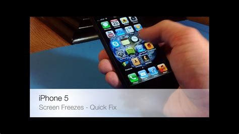 fix iphone 5 frozen unresponsive screen