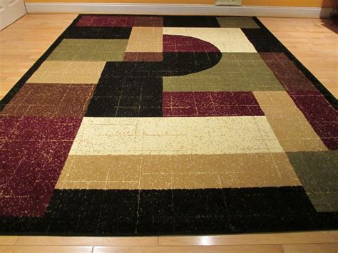 Modern Rugs 8x10 Large 8x11 Contemporary Rug Modern Area Rug 8x10 Rug Floor Carpet Black Burgundy Ebay