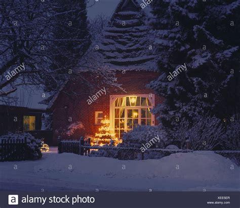 bauers weihnachtsbaum deutschland niedersachsen bauernhof garten weihnachtsbaum d 228 mmerung winter wohnhaus haus