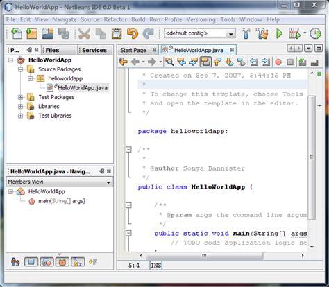 netbeans quick tutorial netbeans ide 6 0 java quick start tutorial