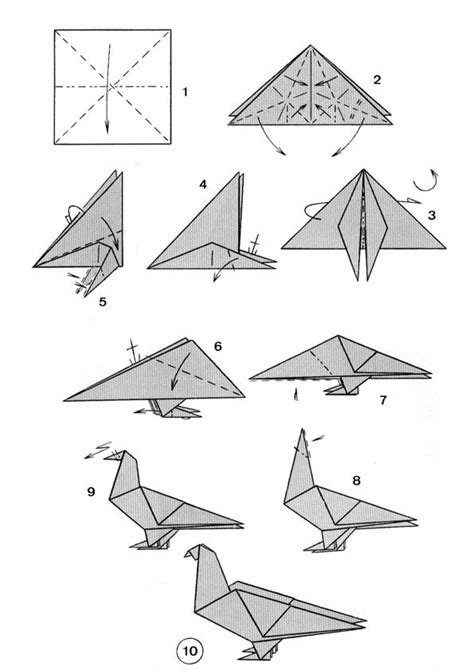 Easy Origami Dove - dove origami cool diy