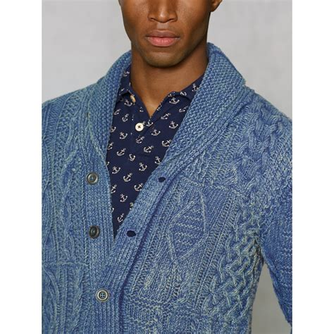 Pashmina Ima Polos Pip 10 polo indigo aran shawl cardigan zip sweater