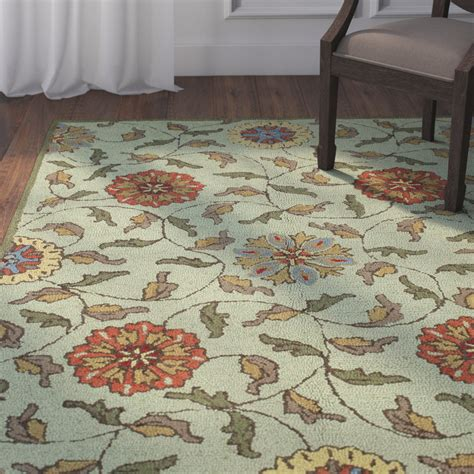 kirkland rugs darby home co kirkland tufted light green area rug wayfair