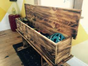 Diy Storage Bench Rustic How To Make A Burnt Wood Storage Bench Myfixituplife